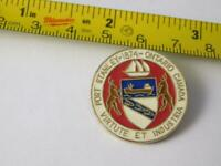 PORT STANLEY ONTARIO CANADA VINTAGE PIN BUTTON TRAVEL SOUVENIR COAT OF ARMS