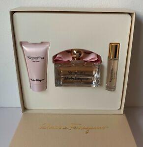 BN Salvatore Ferragamo Signorina Gift Set 100ml + 10ml Eau De Parfum 50ml Lotion