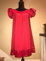VALENTINO COCKTAIL EVENING WEDDING RUNWAY COUTURE RED CARPET SATIN GOWN DRESS