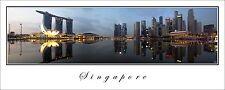 Poster Panorama City Skyline Singapore Marina Bay Sands Fine Art Print Photo