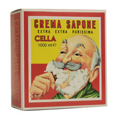 Sweet Almond Oil Shaving Soap 1000ml Cella Milano ® Crema Sapone Olio Madorla