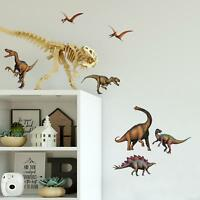DINOSAURS Wall Stickers 16 New Decals T-Rex Boys Bedroom Decorations Room Decor