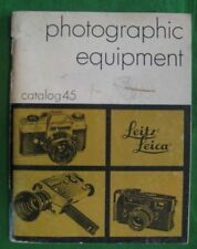 LEITZ LEICA Photographic Equipment Catalog 45 Price List 1972 Vintage