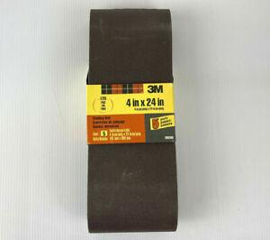 """NEW 3M 99280 5 PACK 4"""" X 24"""" 120 FINE GRIT SANDING BELT!"""