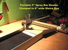 Gold sluice box mining equipment panning dredging prospecting portable spray bar