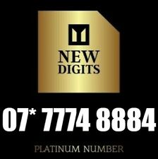 GOLD SPECIAL VIP MEMORABLE UNIQUE MOBILE PHONE NUMBER SIM CARD 7774 8884
