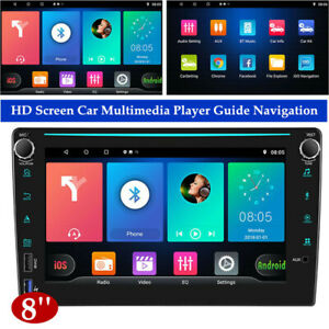 8'' Android 10.0 HD Car Multimedia Player Guide GPS 1+16GB Navigation Machine