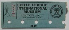 Old Ticket Stub to the Little League International Museum