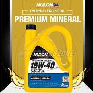 Nulon Mineral 15W-40 Engine Oil 5L for Holden VS VT VX VY VZ VU Commodore Calais