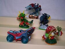 Skylanders Lot Of 5 Spitfire Sonic Boom Shroomboom Thorn Horn Camo Superchargers