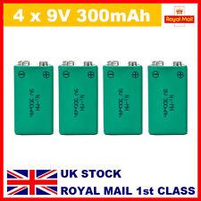 UKAt416 4 x NiMH PP3 9v 300mAh Rechargeable Battery