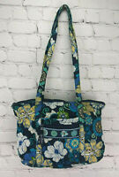 Vera Bradley MOD FLORAL BLUE Medium Tote Bag Purse Retired pattern 2007