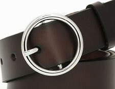 Belt Buckles In 925 Sterling Silver Women's Waistband Design Luxury Casual Round