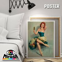 Carteles Pin Up Vintage Girl 1950 Chica 14 Papel Fotográfico 35x50 50x70 70x100