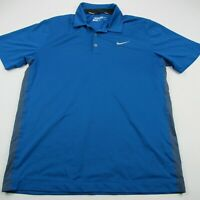 Nike Golf DriFit Men Polo Shirt Adult Blue Short Sleeve Tour Performance Medium