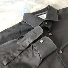 Charles Tyrwhitt Sz 17-33 Black Slim Fit Button Down Men's Shirt