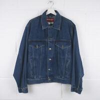Vintage WRANGLER HERO Dark Blue Trucker Denim Jacket Size Mens Medium /R57018