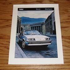 Original 1982 Buick Skyhawk Sales Brochure 82