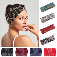 Twist Knot  Printed Elastic Hair Band Headband Head Wrap Bandana Turban