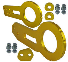 "JDM 2"" Anodized Billet CNC Aluminum Racing F. & Rear Tow Towing Hook Gold D126"