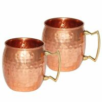 Copper Moscow Mule Vodka Drink ware Set of-2 Mugs 400 ml for Christmas New Year*