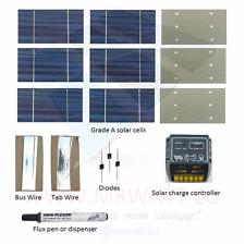 """KIT fotovoltaico 70W da 36 celle solari poli 3""""X6"""" (76X156 mm) classe A con rego"""