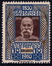Ö 1910 Geburtstag ANK 177 als Reklamevignette Fa. Brehovsky