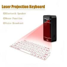 Virtual Laser Projection Keyboard Wireless Bluetooth For Phone Computer Black TR