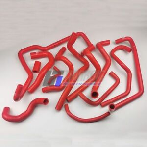 Red Silicone Hose Kits For Mercedes Benz Smart ForTwo W451 1.0T 2008-2015