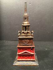 "Antique Cast Iron ""INDEPENDENCE HALL TOWER"" Bank by Enterprise Mfg. ca.1876"