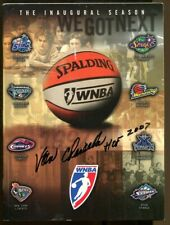 Van Chancellor Signed 1997 WNBA Program Autographed Houston Comets 63520