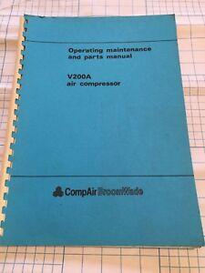 COMPAIR  V200A  AIR COMPRESSOR OPERATING MAINTENANCE & PARTS MANUAL