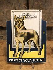 Vintage JOHN HANCOCK Life Insurance Co. MA Dog Penny Save Bank Advertising