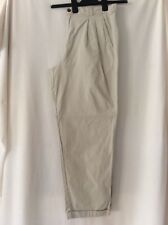 Men's Savatini 100% Cotton Beige Trousers Size 34