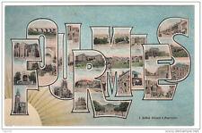 59 FOURMIES lettres alphabet monuments - voyagé 1906