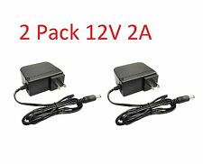 2 Pack 12V 2000mA 12 Volt DC 2 Amp Surveillance Camera Power Supply For Swann