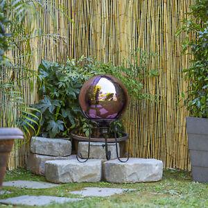 Reflective Glass Gazing Globe 10 x 12 Patio Outdoor Garden Decor Durable Purple