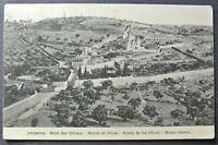 PALESTINE  25.4.1924 JERUSALEM Mont of Olives Postcard to Greiz (DE) from Jerus.