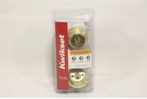 Kwikset Double Cylinder Deadbolt Polished Brass Finish & Microban 96650-494