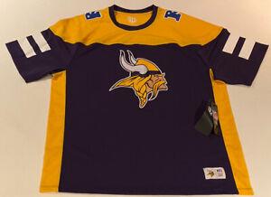OTS NFL Brand Minnesota Vikings Big Logo Team Jersey T-shirt Mens Large NFC