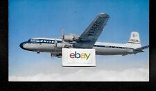 UNITED AIR LINES DOUGLAS DC-7 MAINLINER AIRLINE ISSUE 1950'S POSTCARD