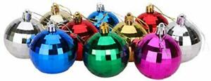 Christmas Concepts® Pack of 10-60mm  Baubles- Disco Ball, Assorted Colours-(BA8)