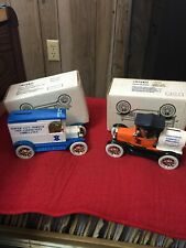 Two Ertl Bank Tower City Pa Ambulance 1917 Ford Model T 1918 Barrel Porter Twp