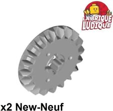 Lego technic 2x engrenage pignon gear 20 tooth bevel gris/light b gray 32198 NEW