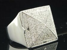 MENS WHITE GOLD OVER DIAMOND PINKY ENGAGEMENT WEDDING BAND RING 2.00 CARAT