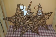 "10"" Grapevine Twig Stars, Set of 3, Natural, Star, Primitive, Country Craft"