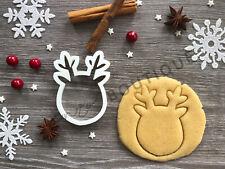 Reindeer Head Cookie Cutter 05 | Christmas | Fondant Cake Decorating | UK Seller