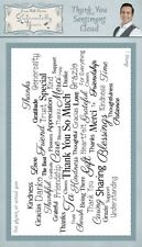 Sentimentally Yours DL Thank You Sentiment Cloud Rubber Stamp Phill Martin
