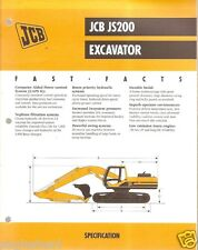Equipment Brochure - JCB - JS200 - Excavator - 1999 (EB393)