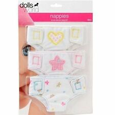 Dolls World Fabric Nappies Baby Doll 3 Pack